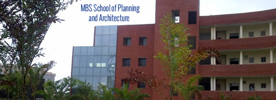 MBS School of Planning and Architecture_cover